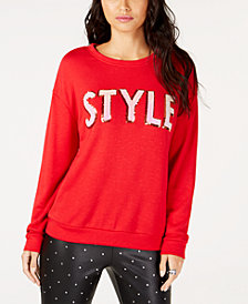 I.N.C. Style Sequin Sweatshirt, Created for Macy's