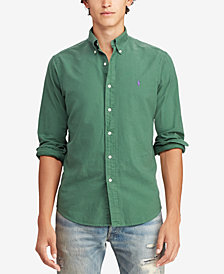 Polo Ralph Lauren Men's Slim Fit Garment Dyed Oxford Cotton Shirt