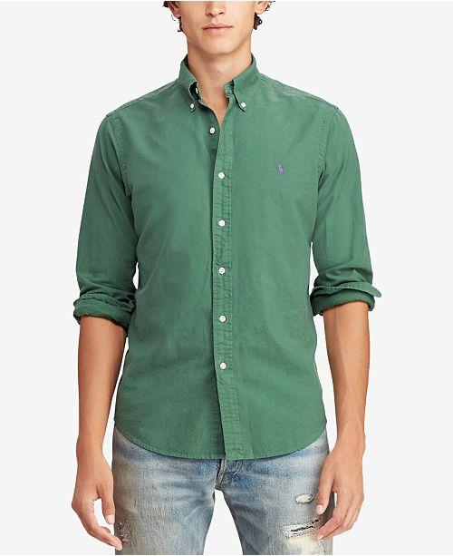 Polo Ralph Lauren Men's Slim Fit Garment Dyed Oxford Cotton Shirt