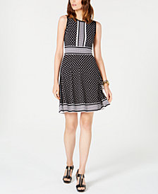 MICHAEL Michael Kors Petite Dot-Print Dress