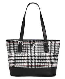Giani Bernini Woven Plaid Tote, Created for Macy's