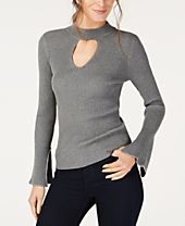 I.N.C. Choker-Neck Bell-Sleeve Top, Created for Macy's