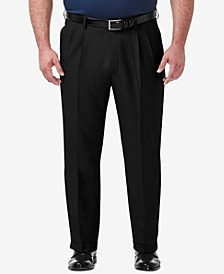 Men's Big & Tall Premium Comfort Stretch Classic-Fit Solid Pleated Dress Pants