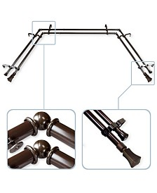 Fort Double Bay Curtain Rod 13/16 inch dia