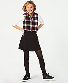 Sequin Hearts Big Girls 2-Pc. Plaid Vest & Dress Set