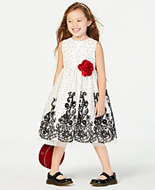 Jayne Copeland Toddler Girls Dot & Floral Dress