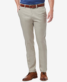Haggar Men's Slim-Fit Stretch Solid Casual Pants