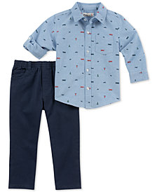 Kids Headquarters Baby Boys 2-Pc. Printed Shirt & Pants Set
