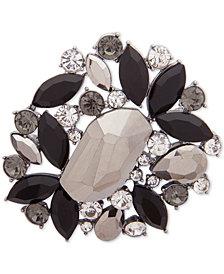 Anne Klein Hematite-Tone Multi-Stone Cluster Pin, Created for Macy's