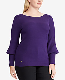 Lauren Ralph Lauren Plus Size Flared-Sleeve Sweater