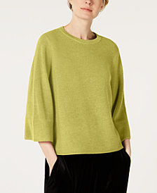 Eileen Fisher 3/4-Sleeve Flared Sweater