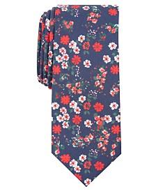 Bar III Men's Garside Skinny Floral Tie, Created for Macy's