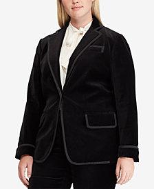 Lauren Ralph Lauren Plus Size Velvet Blazer