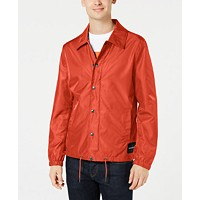 Deals on Calvin Klein Jeans Mens Monogram Coaches Jacket