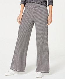 Calvin Klein Performance Micro-Stripe Wide-Leg Pants
