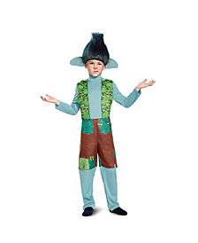 Trolls Branch Deluxe Big Boys Costume With Wig