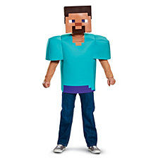 Minecraft Steve Classic Big Boys Costume