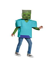 Minecraft Zombie Classic Big Boys Costume