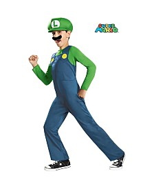 Super Mario Bros Luigi Little Boys Costume