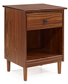 Walker Edison 1 Drawer Solid Wood Nightstand
