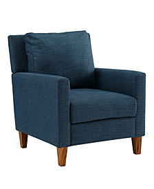 Pillow Back Accent Chair in Blue