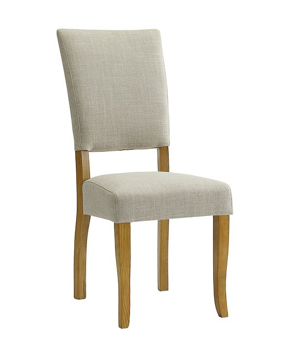Walker Edison Set of 2 Open Back Parsons Dining Chairs in Ivory
