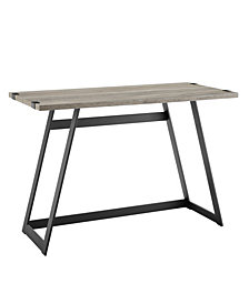 42 inch Metal Wrap Writing Desk