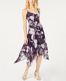 I.N.C. Floral-Print Handkerchief-Hem Dress, Created for Macy's