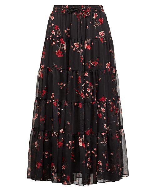 1da9d529d6 Lauren Ralph Lauren Floral-Print Peasant Skirt & Reviews - Skirts ...