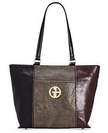 Giani Bernini Tricolor Glazed Tote, Created for Macy's