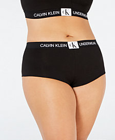 Calvin Klein Women's Plus Size Monogram Boyshort QF5350
