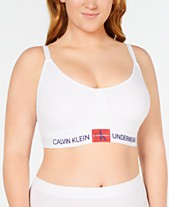 7803d81c2f3 Calvin Klein Women s Plus Size Monogram Triangle Bralette QF5353