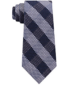 Michael Kors Men's Natte Check Silk Tie