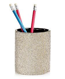 Tri-Coastal Design Silver Stone Pencil Holder