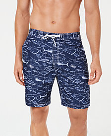"Trunks Surf & Swim Co. Men's Swami Printed Fish 8"" Swim Trunks"