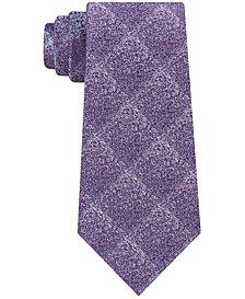 Calvin Klein Men's Particle Check Slim Silk Tie