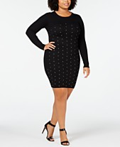 11dad00d85d Planet Gold Trendy Plus Size Studded Sweater Dress