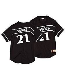 Mitchell & Ness Men's Dominique Wilkins Atlanta Hawks Black & White Mesh Name and Number Crew Neck Jersey