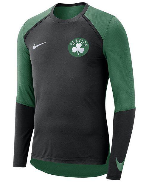 Nike Men s Boston Celtics Dry Long Sleeve Top - Sports Fan Shop By ... 927fbda39