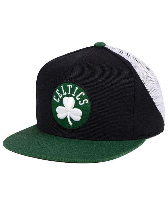 Mitchell & Ness Boston Celtics Curved Mesh Snapback