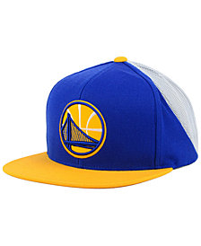 Mitchell & Ness Golden State Warriors Curved Mesh Snapback