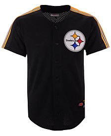 Mitchell & Ness Men's Pittsburgh Steelers Winning Team Mesh Button Front Jersey