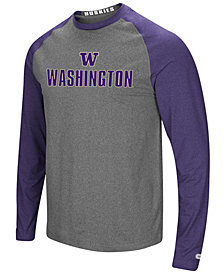 Colosseum Men's Washington Huskies Social Skills Long Sleeve Raglan Top