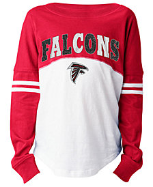 5th & Ocean Atlanta Falcons Slub Long Sleeve T-Shirt, Girls (4-16)