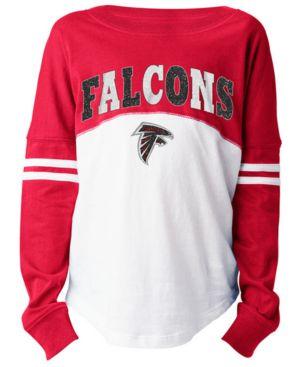 Image of 5th & Ocean Atlanta Falcons Slub Long Sleeve T-Shirt, Girls (4-16)
