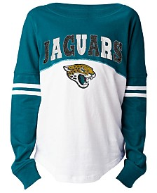 5th & Ocean Jacksonville Jaguars Slub Long Sleeve T-Shirt, Girls (4-16)