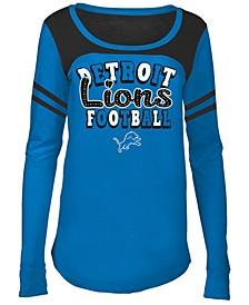Detroit Lions Sleeve Stripe Long Sleeve T-Shirt, Girls (4-16)