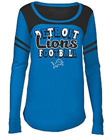 5th & Ocean Detroit Lions Sleeve Stripe Long Sleeve T-Shirt, Girls (4-16)