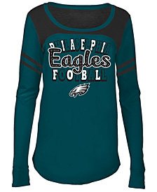 5th & Ocean Philadelphia Eagles Sleeve Stripe Long Sleeve T-Shirt, Girls (4-16)