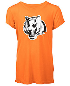 5th & Ocean Cincinnati Bengals Logo T-Shirt, Girls (4-16)